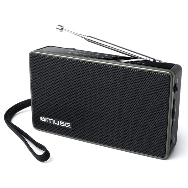 Muse m-030 r negro radio analógica fm/am con altavoz integrado
