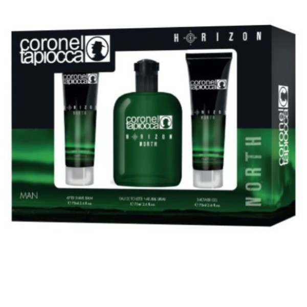 Coronel Tapiocca set Hombre Horizon North bálsamo aftershave 75 ml + EDT 75 ml + gel de ducha 75 ml